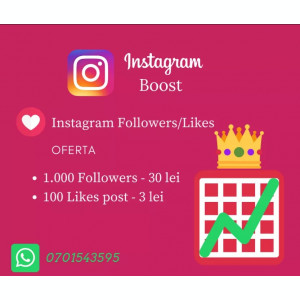 URMARITORI Instagram Followers/Like-uri