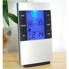 Statie meteo cu ceas, calendar si termometru