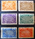 Germania - Reich, cifre in oval, 1922, nestampilate MH/MNH, Nestampilat