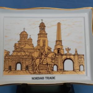 Tablou portelan foita de aur Cetatea Carolina Alba Iulia