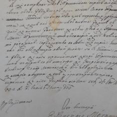 AUTOGRAF EPISCOPUL TRANSILVANIEI  VASILE MOGA din anul 1830