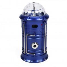 Felinar LED Solar RGB Disco cu Lanterna si USB, incarcare priza 220V 5801T