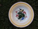 Farfurie veche,manufactura Hollohaza,1825-1850.
