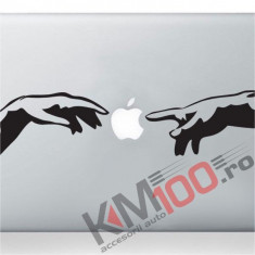 Michelangelo Adam hands mac sticker