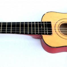 Chitara Instrument muzical cu corzi pentru copii, realizat din lemn