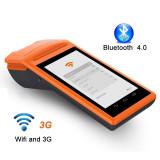 Cititor cod bare 1D Bluetooth imprimanta termica incorporata, slot SIM, LCD 5.5 inch