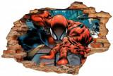 Cumpara ieftin Sticker Wall Crack Spiderman 1 - 120 x 80 cm