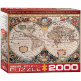 Puzzle 2000 piese Antique World Map