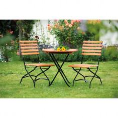 Set de 2 scaune Schlossgarten, eucalipt/otel foto