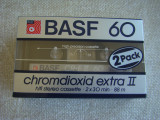 Lot 2 Casete Audio BASF Chromdioxid Extra II 60 min - NOI Sigilate