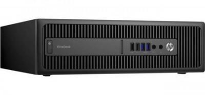 Calculator HP EliteDesk 800 G1 Desktop, Intel Core i5 Gen 4 4570 3.2 GHz, 4 GB DDR3, 128 GB SSD NOU, DVDRW foto
