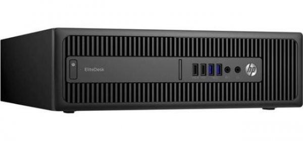 Calculator HP EliteDesk 800 G1 Desktop, Intel Core i5 Gen 4 4570 3.2 GHz, 4 GB DDR3, 128 GB SSD NOU, DVDRW