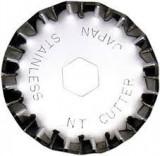 Set 2 lame cutter disc cu taiere ondulata - Ø28mm, NT Cutter.