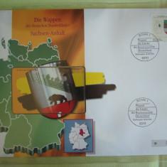 Cartela Telefonica + FDC Germania Sachsen-Anhalt - Exponat Numerotat