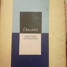 Pasiunile sufletului, Descartes, trad Dan Rautu, studiu introductiv Gh Bratescu