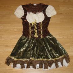 costum carnaval serbare rochie medievala gladiatoare pentru copii de 9-10 ani