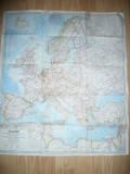 Harta Europei 1969 National Geografic , dim.= 67x77cm