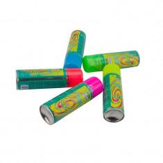 Spray confetti panglici pentru petreceri, 68 ml, crazy strings, land of colors culoare galben