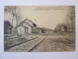 Carte postala scrisa Macedonia-Monastir(astazi Bitola)-Gara razboiul 1914-1918, Belgia, Circulata, Printata