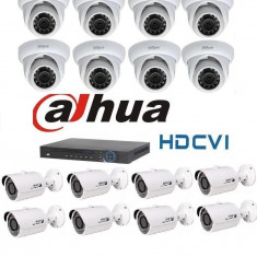 Kit Supraveghere Video 1Megapixel Interior Exterior HD-CVI Dahua S3