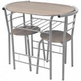 VidaXL Set mobilier bar pentru mic dejun, MDF