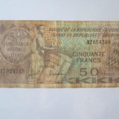 Cumpara ieftin Data rara! Burundi 50 Francs 01-05-1988