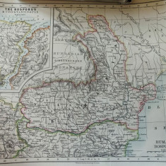Harta veche de colectie - Romania 1897 - Bosfor & Constantinopool (in engleza)