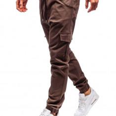 Pantaloni joggers cargo pentru bărbat maro Bolf 0404