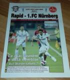 Program Fotbal Rapid FC Nurnberg 2007 UEFA Cup bilet Romania