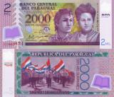 PARAGUAY 2.000 guaranies 2011 UNC!!!