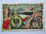 Carte Postala Militara, Germania 1905-1918: Caricaturi - Recrutare (cu defect)