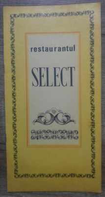 Meniu Restaurant Select Bucuresti foto