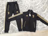 Trening pt copii Juventus pantalon si bluza cu fermoar marimea 116, Alta, Negru