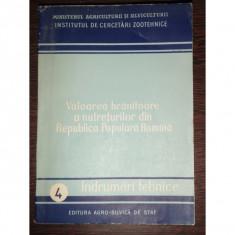 VALOAREA HRANITOARE A NUTRETURILOR DIN R.P.R.