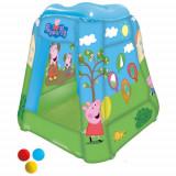 Cort de Joaca Gonflabil Peppa Pig 85x85x81 cm cu 20 Bile