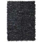 Cumpara ieftin Covor fire lungi, piele naturală, 160x230 cm, Gri