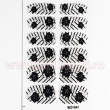 Set 12 tatuaje pentru toata unghia MZ01047 Poppy Matrix