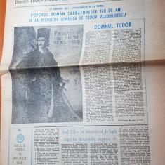 Ziarul romania mare 18 ianuarie 1991-redactor sef corneliu vadim tudor