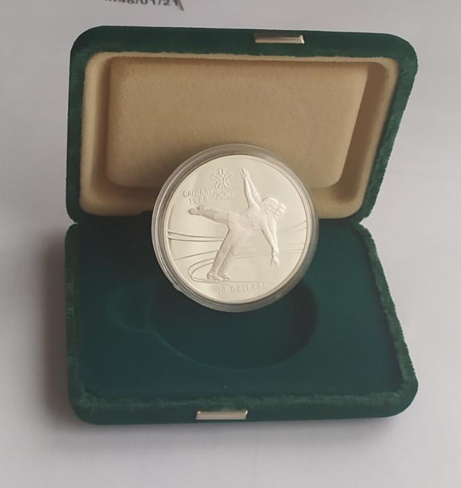 Moneda argint Proof 20 Dollars - Dolari 1987 Canada