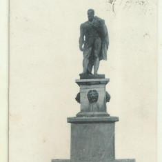 Cp Herculane : Statuia lui Hercule - circulata 1912, timbre maghiare, Fotografie, Baile Herculane