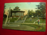 Ilustrata - Salutari din Giurgiu - Gradina Allei circulat 1911 Ed.J.Rusianu Giur, Circulata, Printata