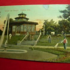 Ilustrata - Salutari din Giurgiu - Gradina Allei circulat 1911 Ed.J.Rusianu Giur