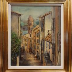 "TABLOU, TEODOR VESCU, "" RUE A COLLIOURE - FRANTA "" , U/P , 2001"
