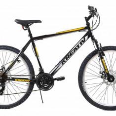 Bicicleta Mtb Kreativ 2605 Negru Argintiu M 26 inch, Discuri