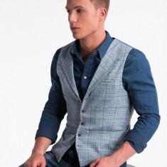 Vesta premium, eleganta, barbati - V51-albastru