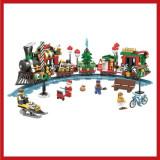 SUPER TRENULETUL LUI MOS CRACIUN DIN PIESE TIP LEGO! 552 PIESE,CADOUL MINUNAT., Seturi complete