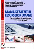 Cumpara ieftin Managementul resurselor umane - Intrebari de control si teste grila