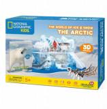 Cumpara ieftin Puzzle 3D + Brosura Lumea De Gheata, 73 piese, CubicFun