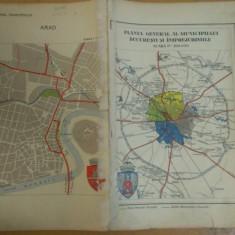 Planul General al Municipiului București și împrejurimile + Arad