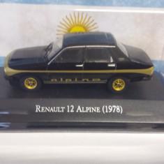macheta renault 12 alpine 1978 - ixo, scara 1/43, noua.